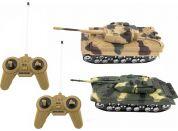 Teddies Tank RC 2ks 25cm tanková bitva na baterie se zvukem se světlem