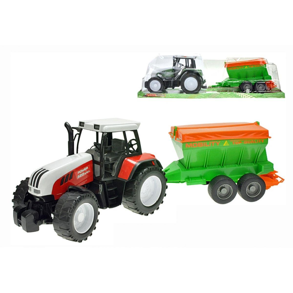 Teddies Traktor na setrvačník s rozmetadlem hnojiv