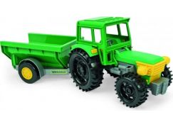 Teddies Traktor s vlečkou 38 cm