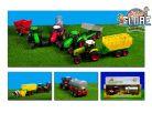 Teddies Traktor s vlečkou, se zvukem a světlem 3