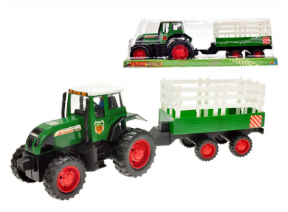 Teddies Traktor s vlečkou