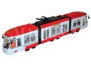 Teddies Tramvaj na baterie 45 cm - Červená