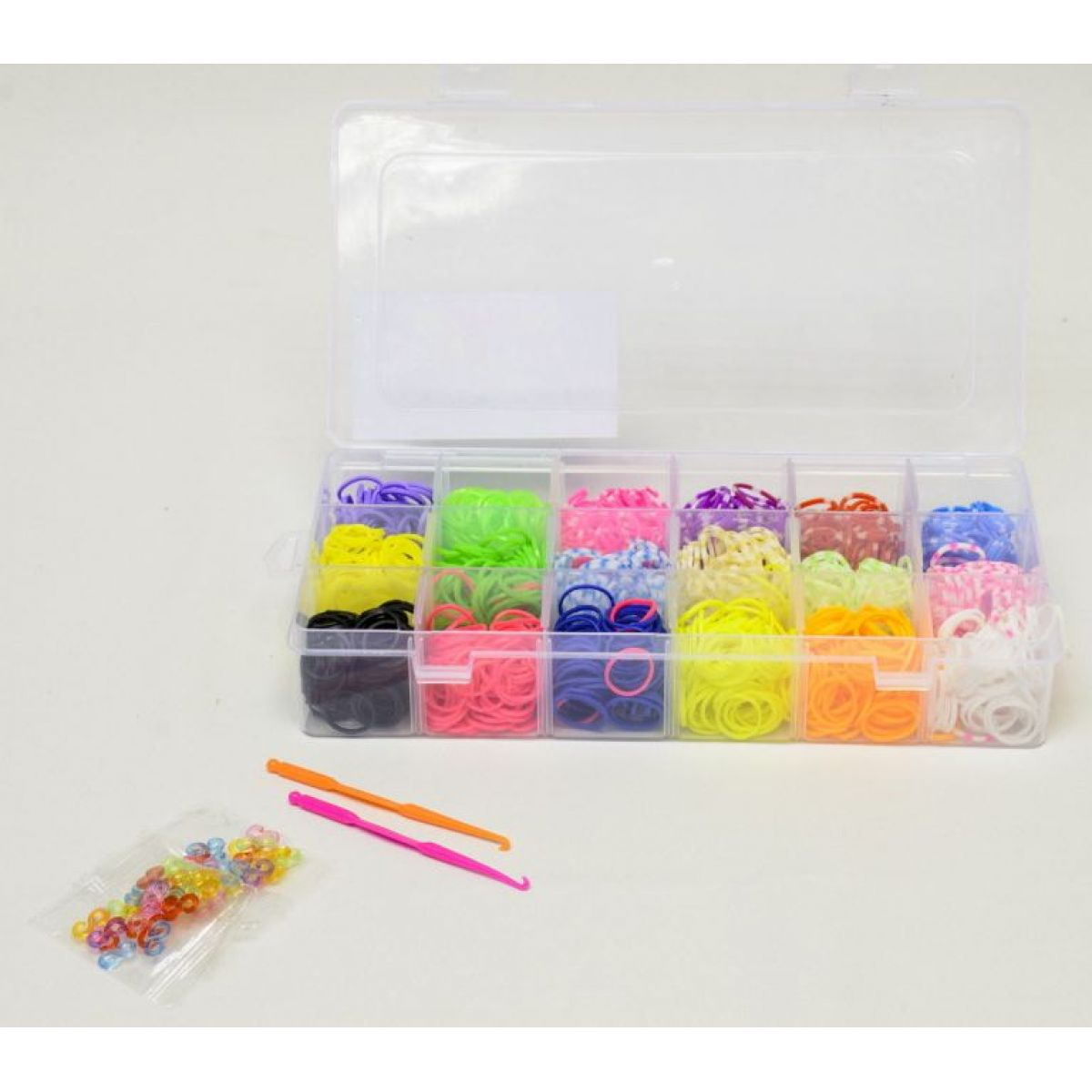Teddies Udělej si svůj vlastní náramek 1440ks gumiček v krabičce
