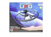 Teddies Ufo létající prstenec plast na baterie svítící