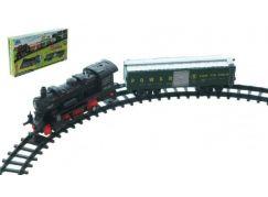 Teddies Vlak na baterie s kolejemi se zvuky a světly
