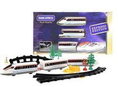 Teddies Vlak se 3 vagóny a s kolejemi