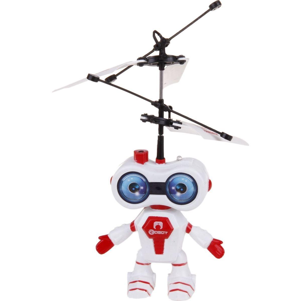 Teddies Vrtulník vesmírný letec 15cm se senzorem - Červená