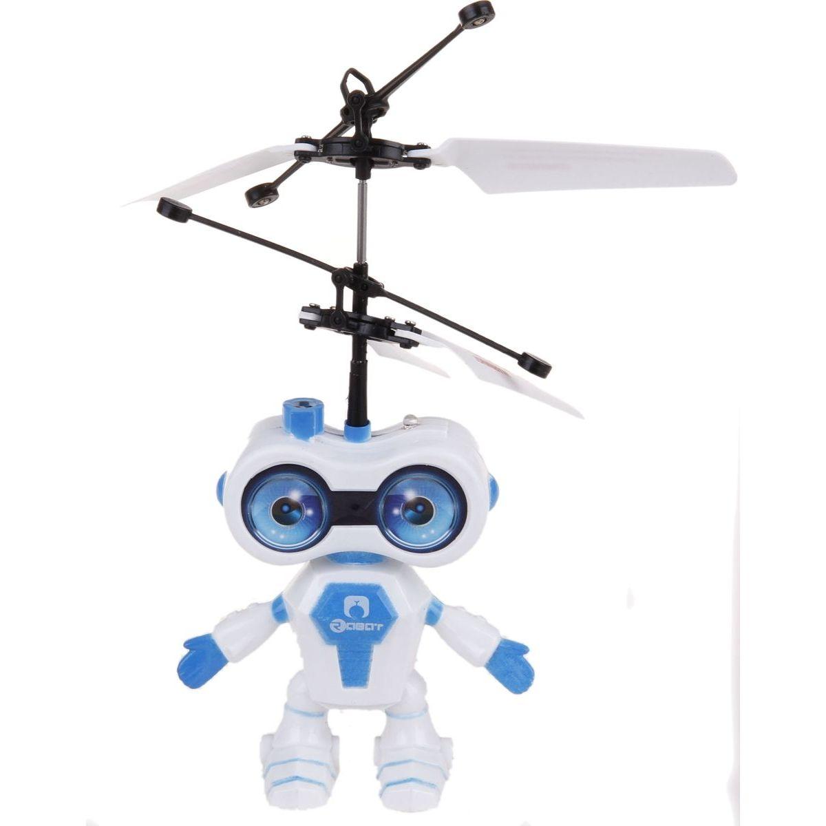 Teddies Vrtulník vesmírný letec 15cm se senzorem - Modrá