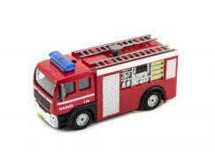 Teddies Záchranářské auto 11cm na zpětný chod se světlem a zvukem hasiči - Poškozený obal
