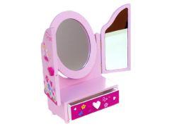 Teddies Zrcadlo s toaletním stolkem a zásuvkou