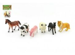 Teddies Zvířátka domací farma 6 ks