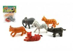 Teddies Zvířátka mláďata safari ZOO  6 ks