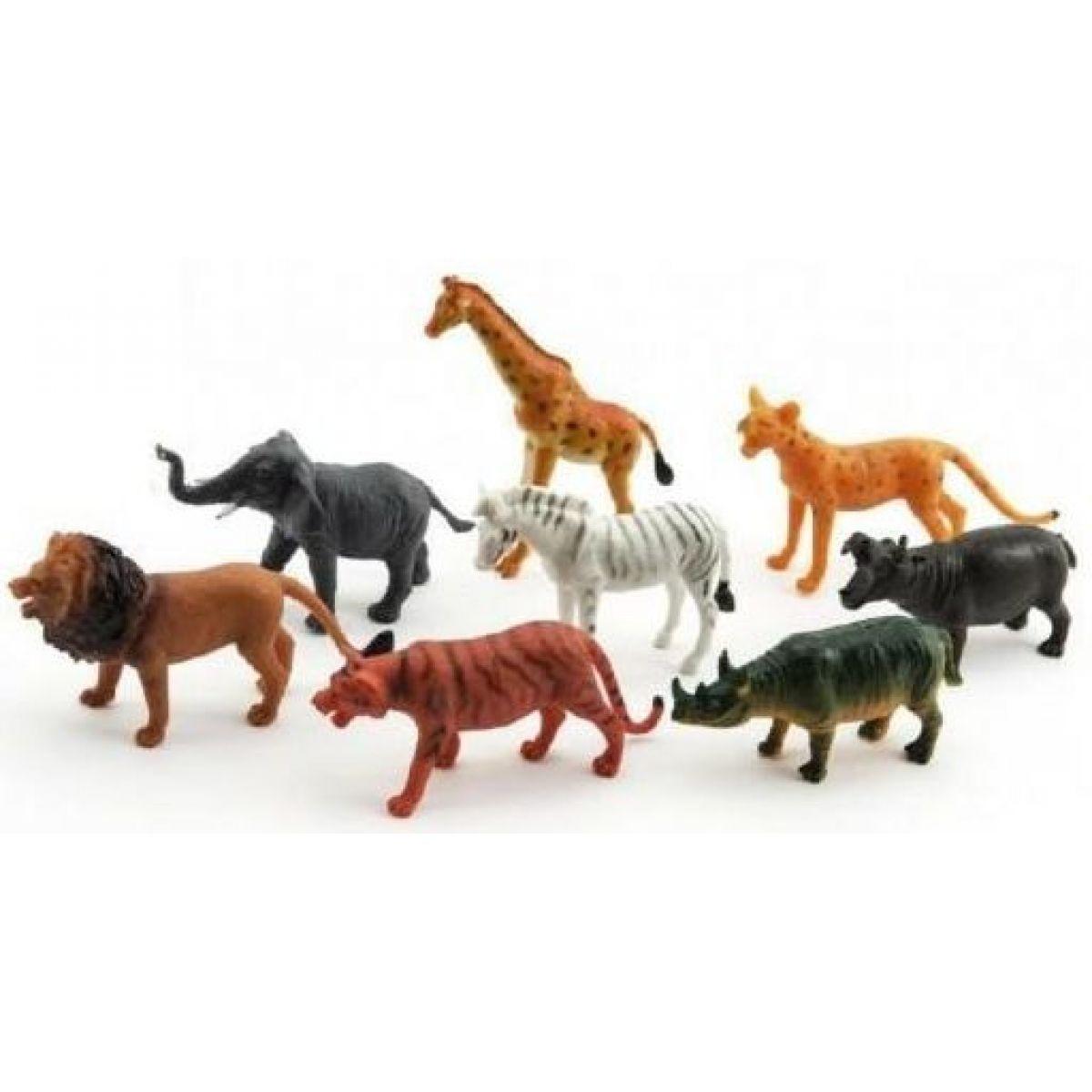 Teddies Zvířátka safari ZOO 8 ks