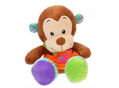 Teddies Zvířátko plyšové v šatech 33cm - Opička