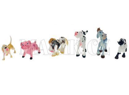 Teddies Zvířátka - Domácí veselá 6ks
