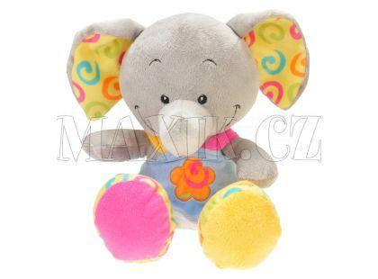 Teddies Zvířátko plyšové v šatech 33cm - Slon