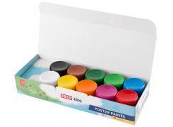 Temperové barvy v kelímku 10 barev 20 ml