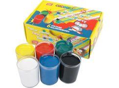 Temperové barvy v kelímku 6 barev 20ml