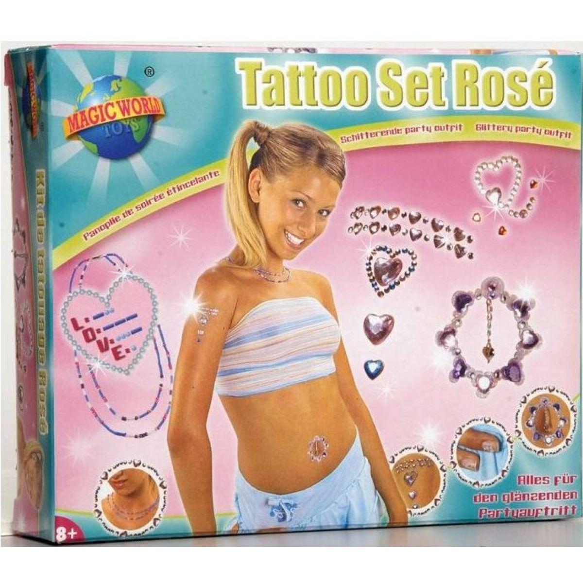 Tetovací sada - Sada tetování Rosé
