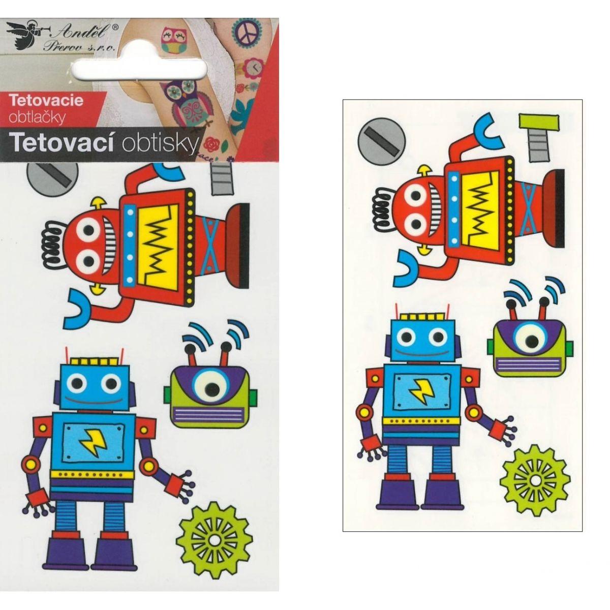 Tetovací obtisky 10,5x6 cm- roboti
