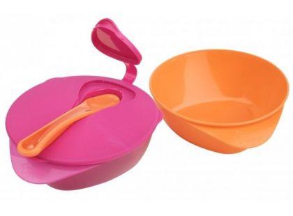Tomme Tippee Explora Misky pro snadné nabírání 2ks - Oranžovo-růžová