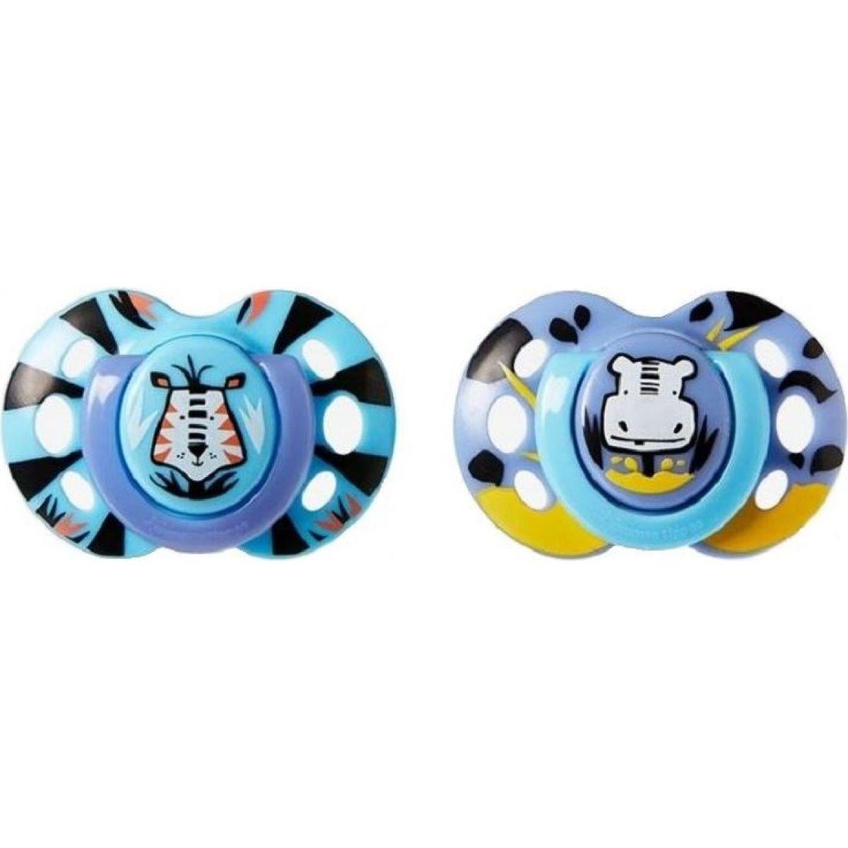 Tomme Tippee Šidítko C2N silikon Fun 2ks 6-18m tmavě modré