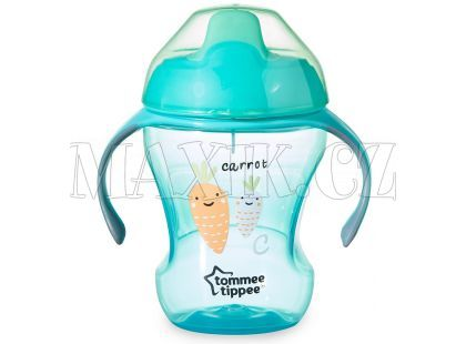 Tommee Tippee Explora Netekoucí hrnek Easy Drink Cup 230ml - Tyrkysová