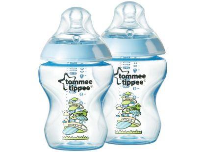 Tommee Tippee Kojenecká láhev s obrázky C2N 2x260ml - Modrá