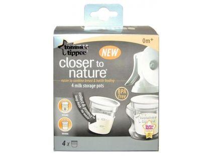Tommee Tippee Nádobky na skladování mateřského mléka C2N 0+ 4ks
