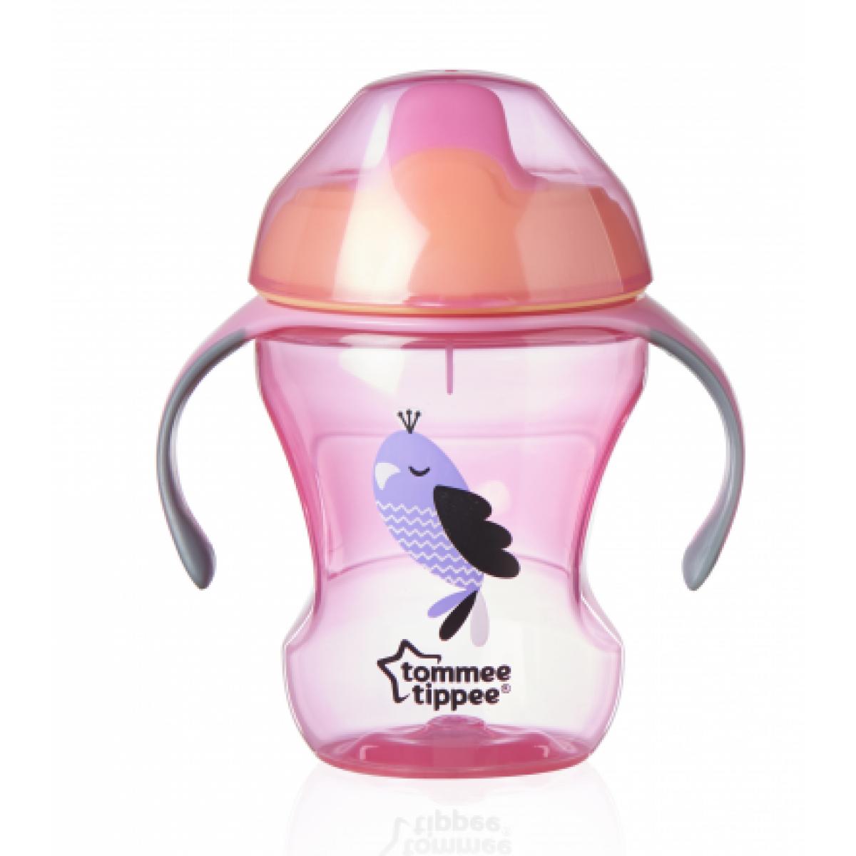 Tommee Tippee Netekoucí hrnek Explora Easy Drink 230ml Růžová