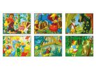 Topa Dřevěné obrázkové kostky 20 ks Pohádky 3