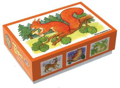 Topa Kostky kubus Lesní zvířátka 6ks