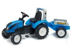 Falk Traktor Landini šlapací s volantem a valníkem