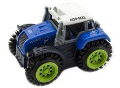 Traktor převracecí plast 10 cm modrý