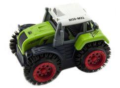 Traktor převracecí plast 10 cm zelený