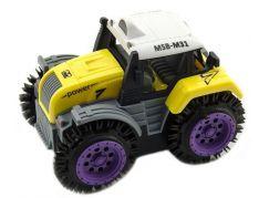 Traktor převracecí plast 10 cm žlutý