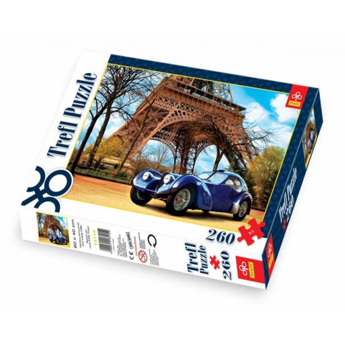 Trefl Puzzle Auto u Eiffelovi věže 260 dílků