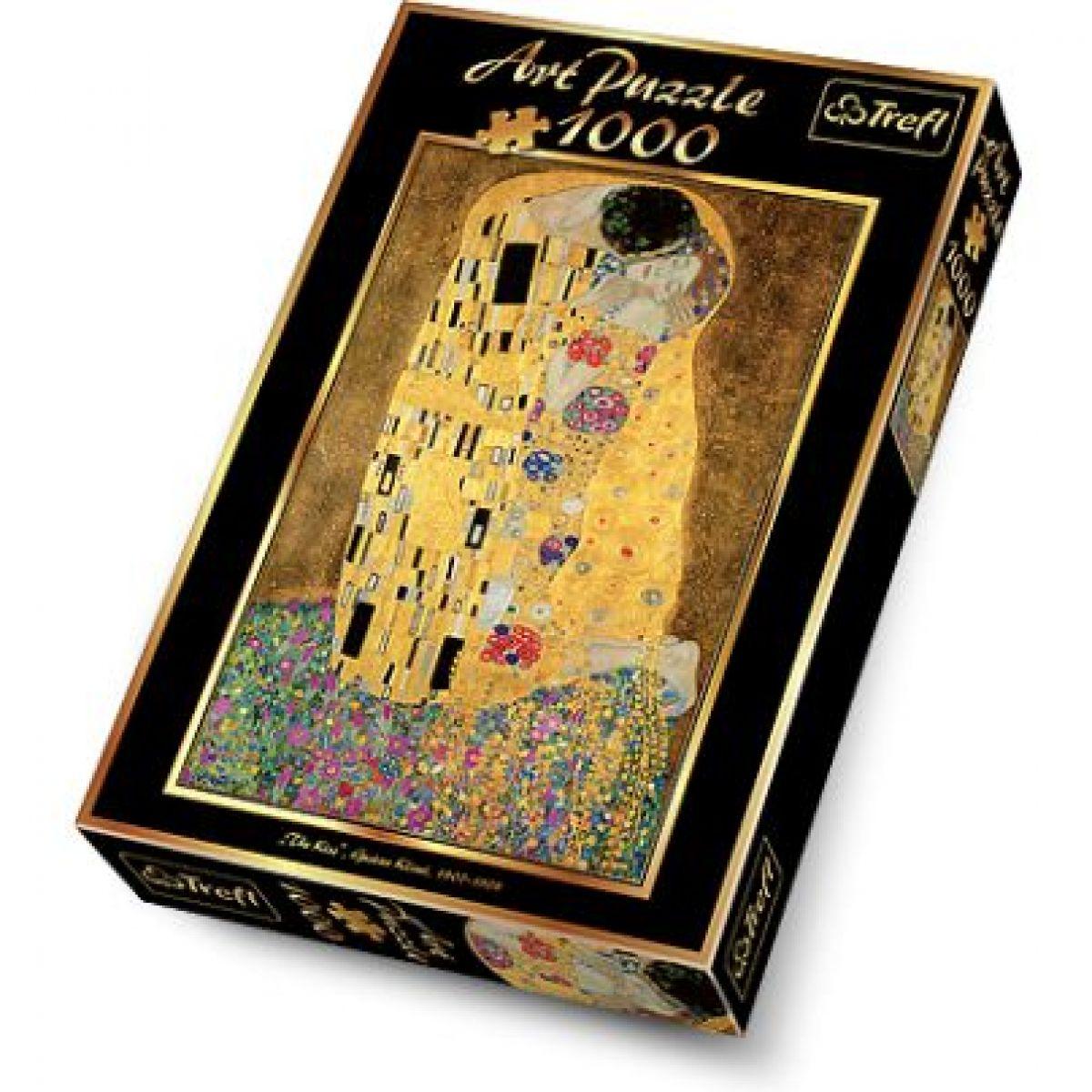 Trefl Puzzle Gustav Klimt Polibek 1000 dílků