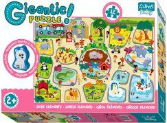 Trefl Puzzle zvířátka Gigantic ZOO 12 ks