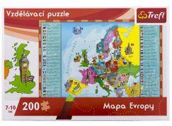 Trefl Vzdělávací puzzle mapa Evropy 200 dílků