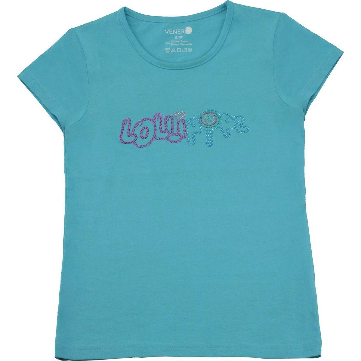 Tričko Lollipopz s kamínkovou aplikací modré, velikost 140 cm (10 let)