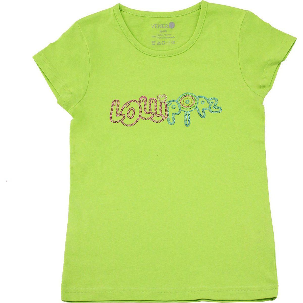 Tričko Lollipopz s kamínkovou aplikací zelené, velikost 140 cm (10 let)