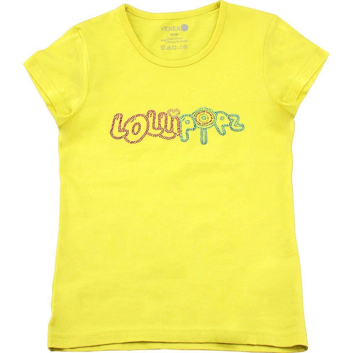 Tričko Lollipopz s kamínkovou aplikací žluté, velikost 140 cm (10 let)