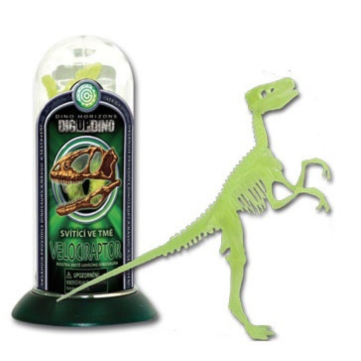 Tuba - Velociraptor svítící ve tmě Dino horizons D133X6