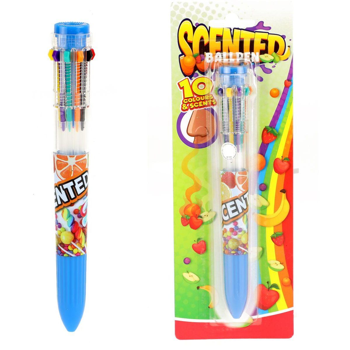 Tužka nebo pero 10 barev 16cm plast s vůní