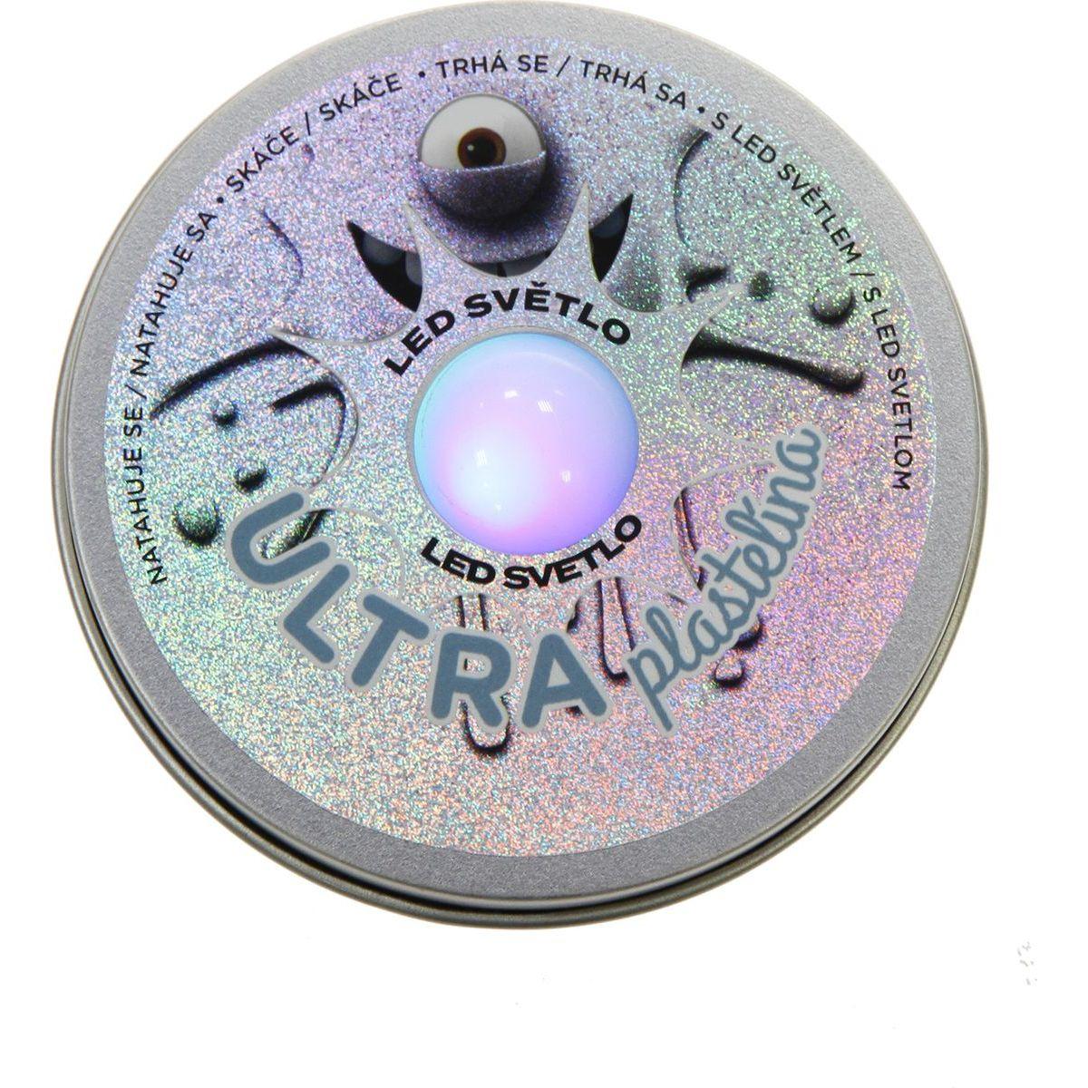 Ultra Plastelína 50g s led světlem šedá
