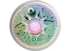 Ultra Plastelína 50g s led světlem zelená