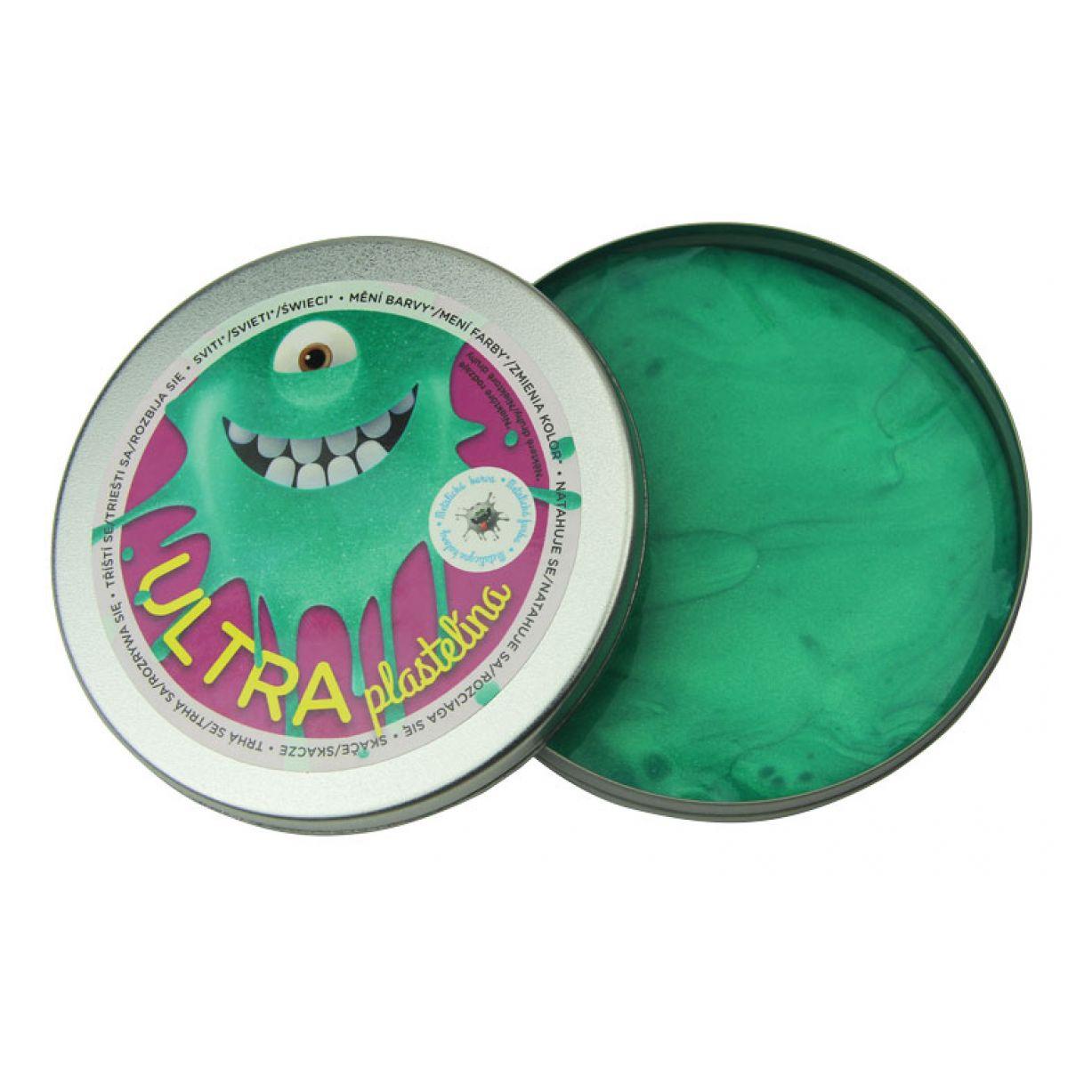 Ultra Plastelína Metalická 80g - Pastelová zelená