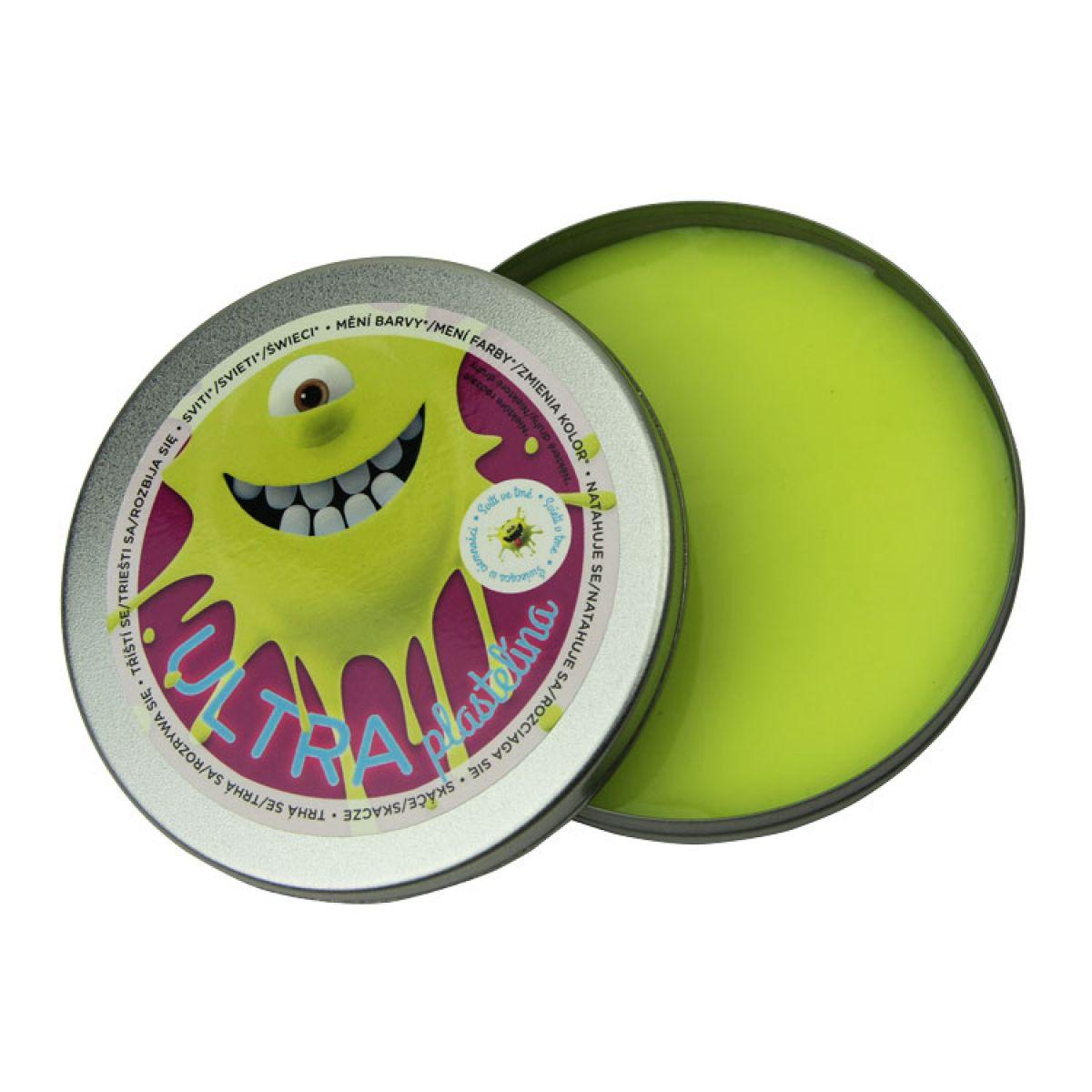 Ultra Plastelína Svítící 80g - Žlutá