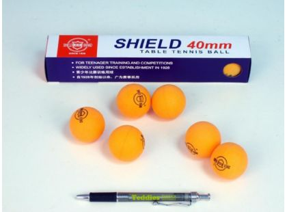 Unison Míčky na stolní tenis Shield 40mm bezešvé oranžové 6ks